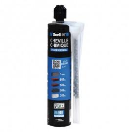 Kit de scellement chimique 280 ml avec accessoires