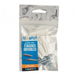 Fix&Match - Kit fixation étagère invisible